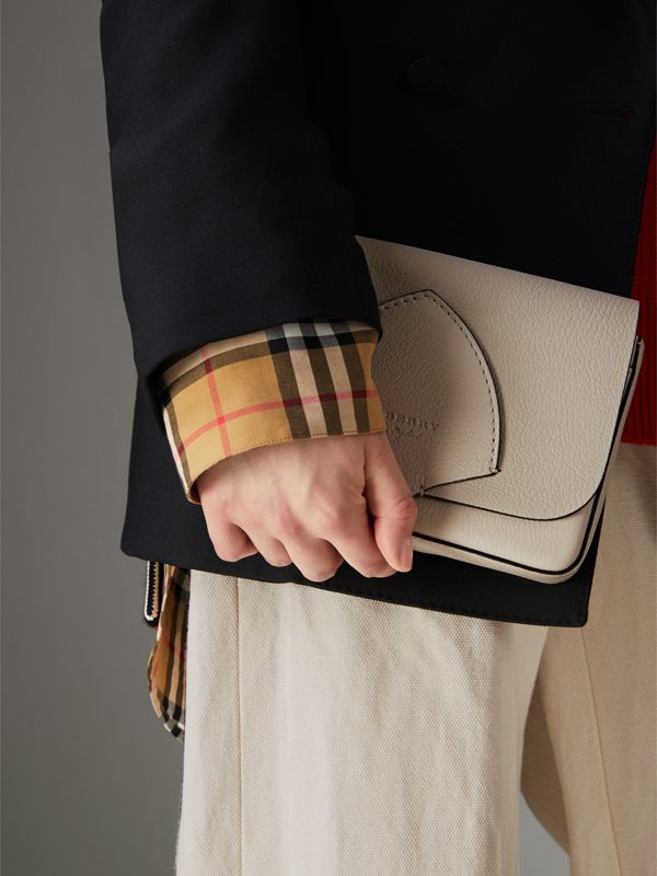 Equestrian Shield Leather Wallet with Detachable Strap in Stone - Women | Burberry Australia - cell image 3