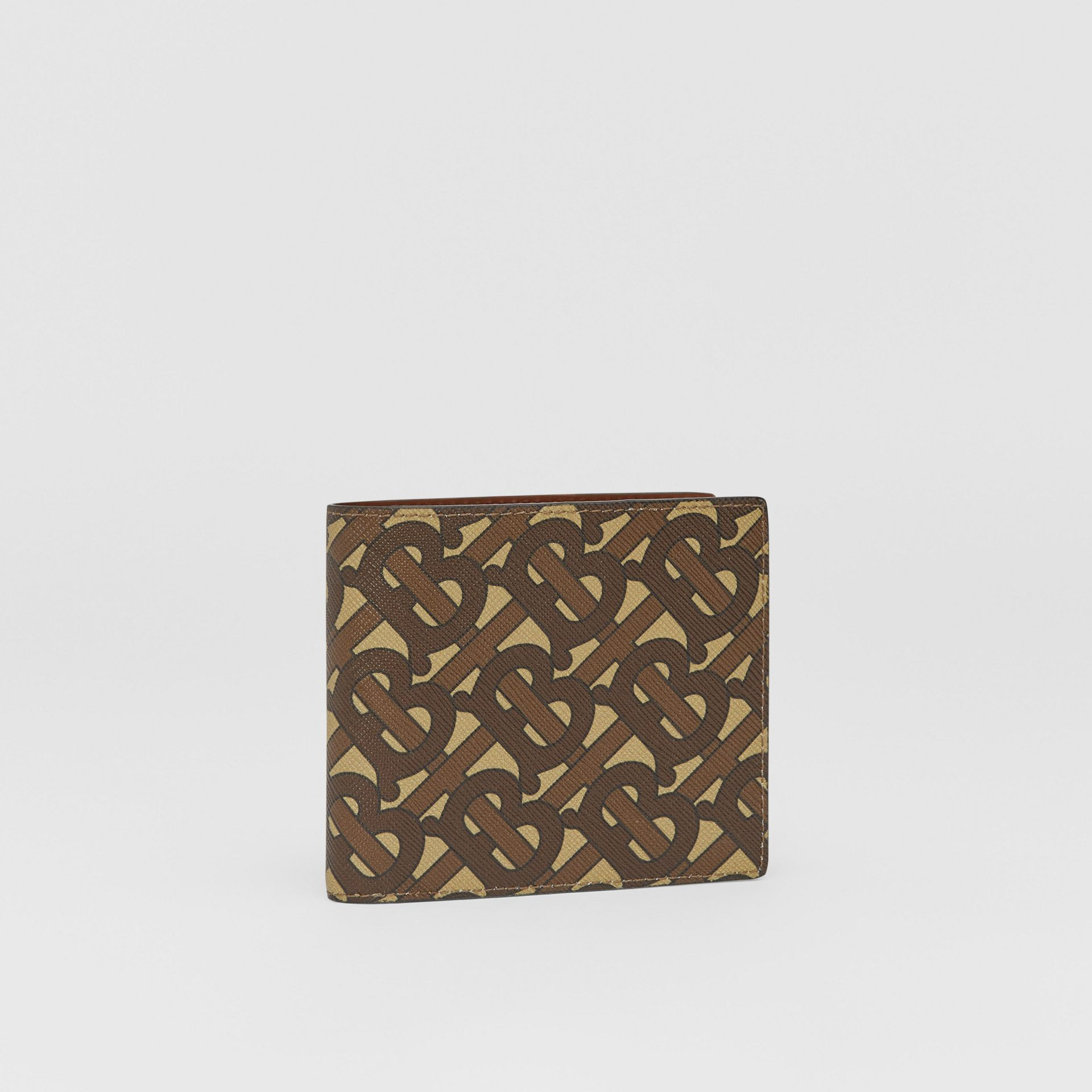 Monogram E-canvas International Bifold Coin Wallet in Bridle Brown - Men | Burberry Australia - gallery image 3