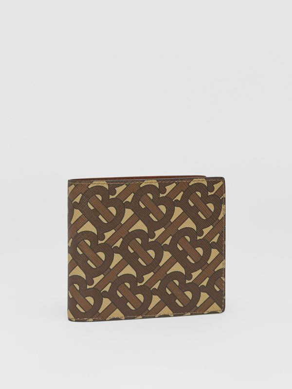Monogram E-canvas International Bifold Coin Wallet in Bridle Brown - Men | Burberry Australia - cell image 3