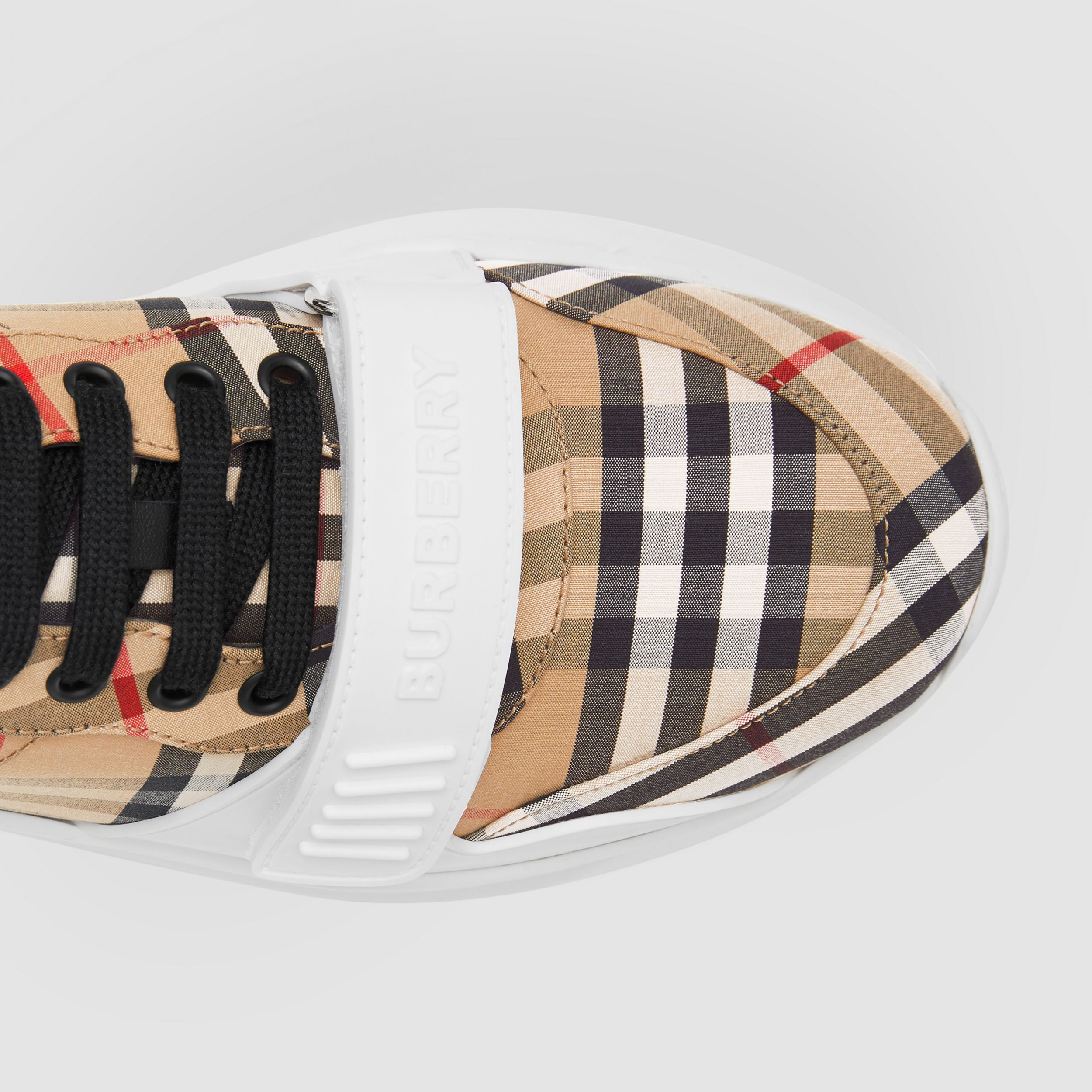 Vintage Check Cotton Sneakers in Archive Beige - Men | Burberry Canada - 2
