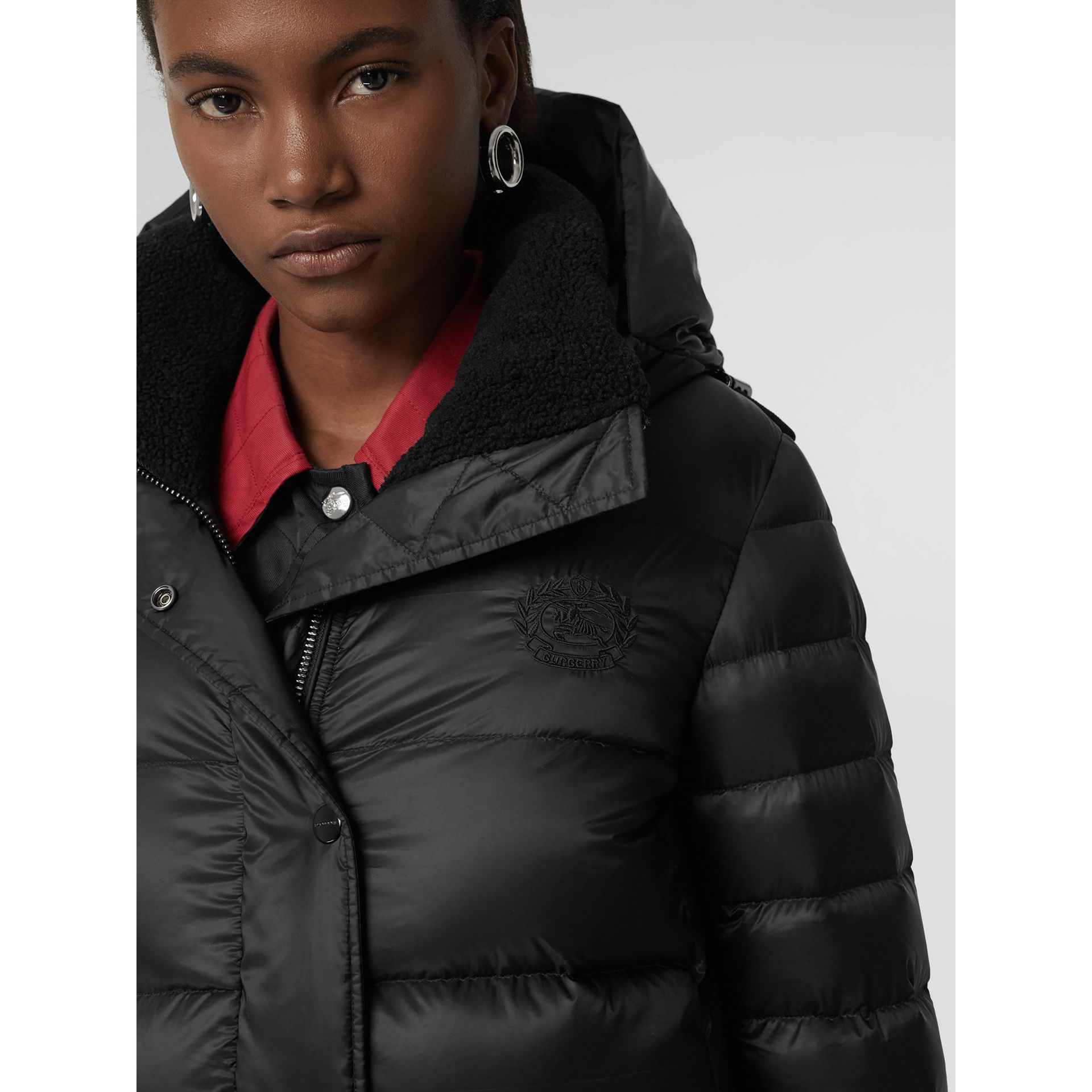 Down-filled Hooded Puffer Coat in Black - Women | Burberry - gallery image 1