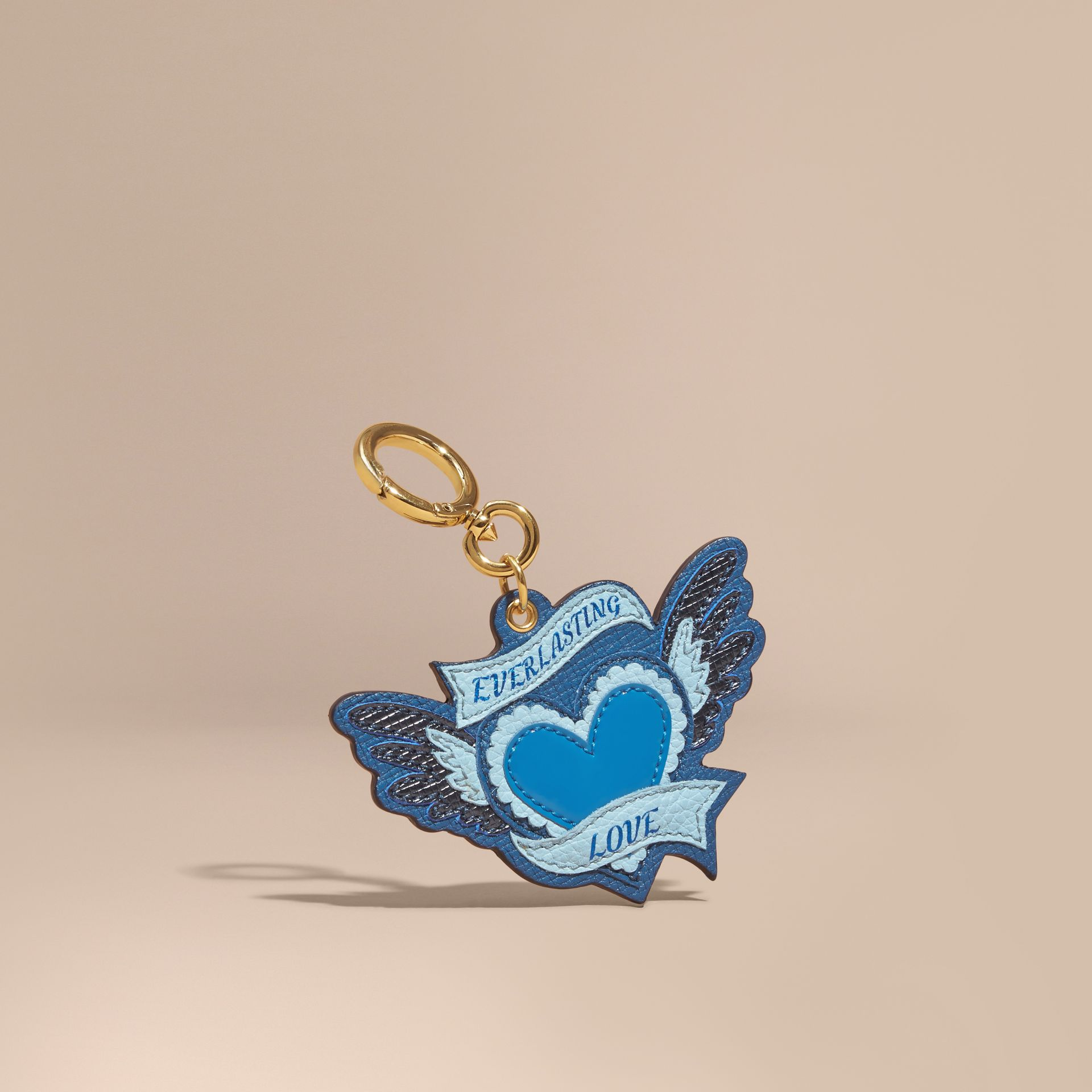 Celadon blue Leather Everlasting Love Charm - gallery image 1