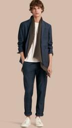 Slim Fit Linen Cotton Blazer