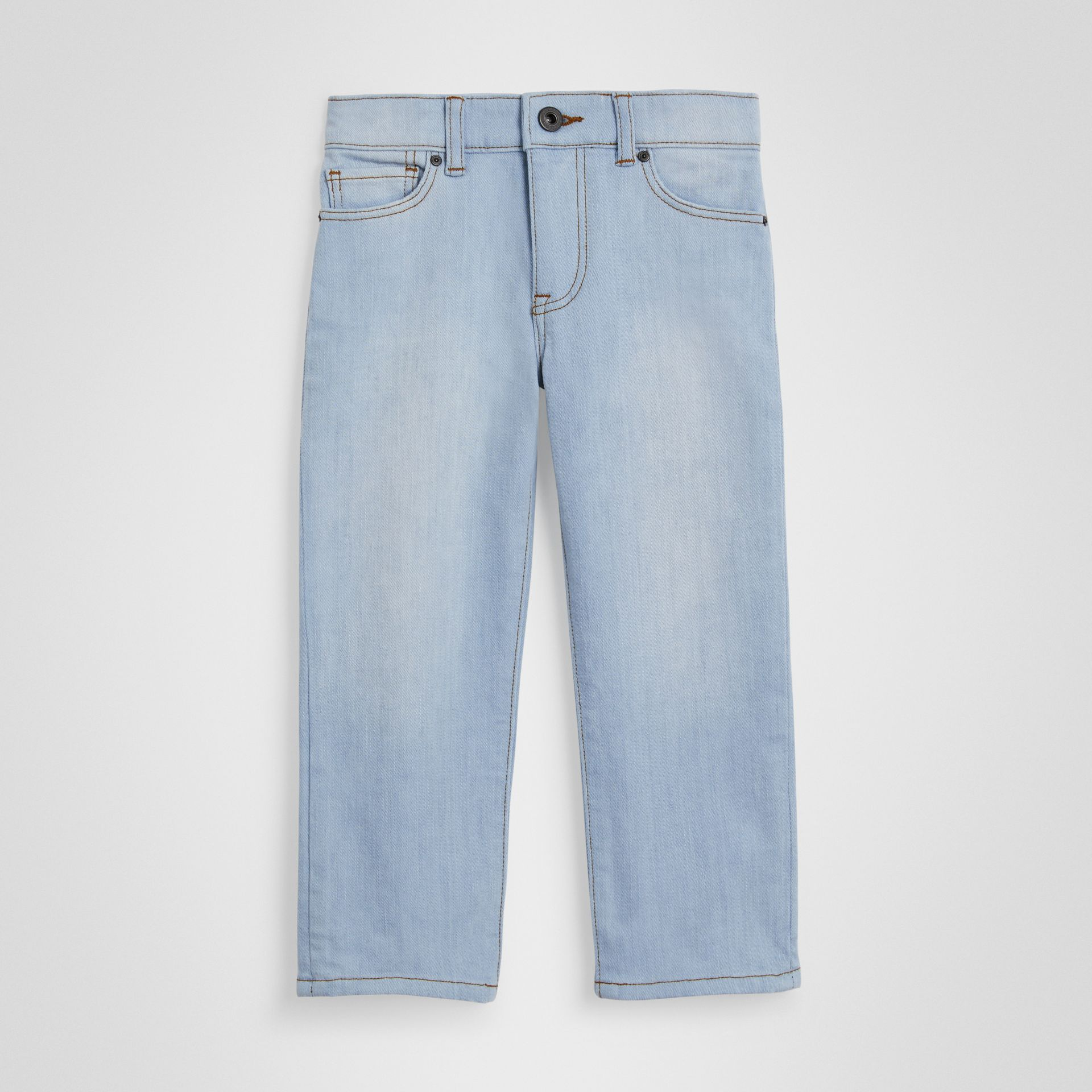 Relaxed Fit Stretch Denim Jeans in Light Blue - Boy | Burberry - gallery image 0