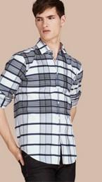 Check Lightweight Cotton Silk Shirt