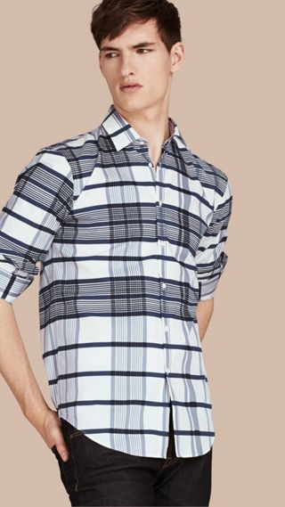 Check Lightweight Cotton Silk Shirt