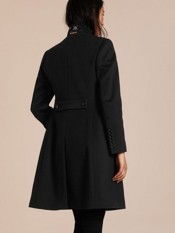 Black Tailored Wool Cashmere Coat Black - cell image 2