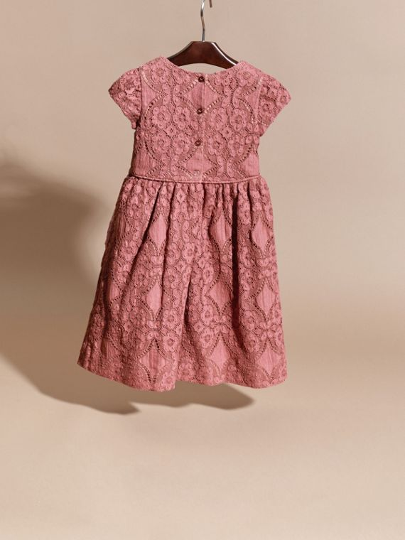 Antique rose English Floral Lace Dress - cell image 3