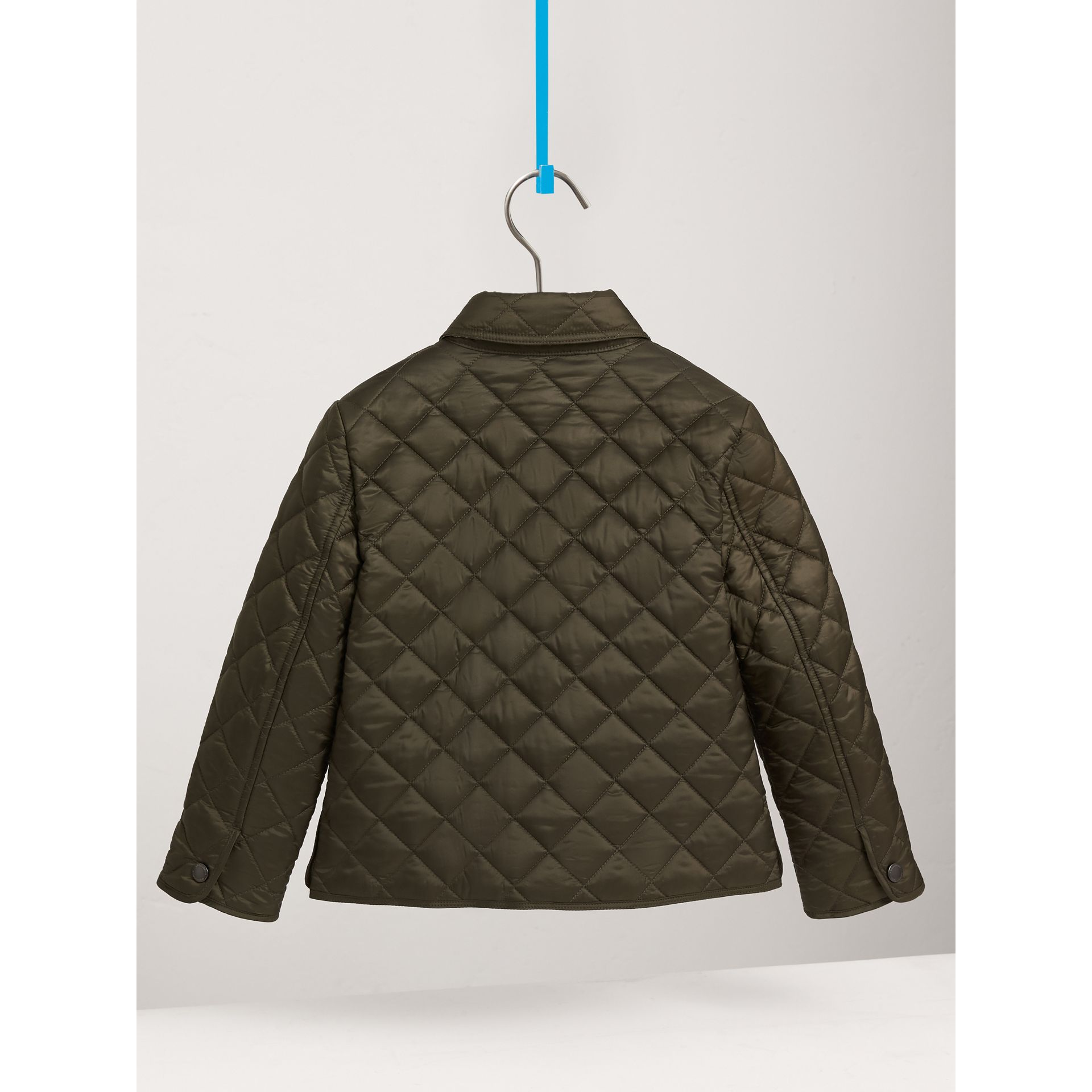 Diamond Quilted Jacket in Olive - Boy | Burberry - gallery image 4