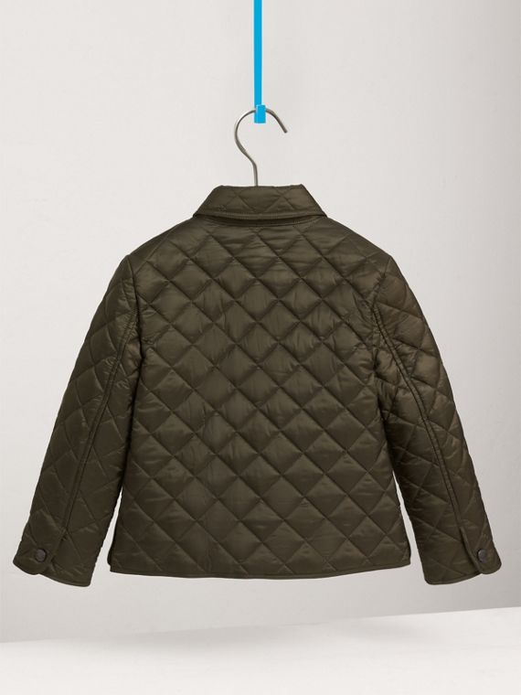 Diamond Quilted Jacket in Olive - Boy | Burberry - cell image 3