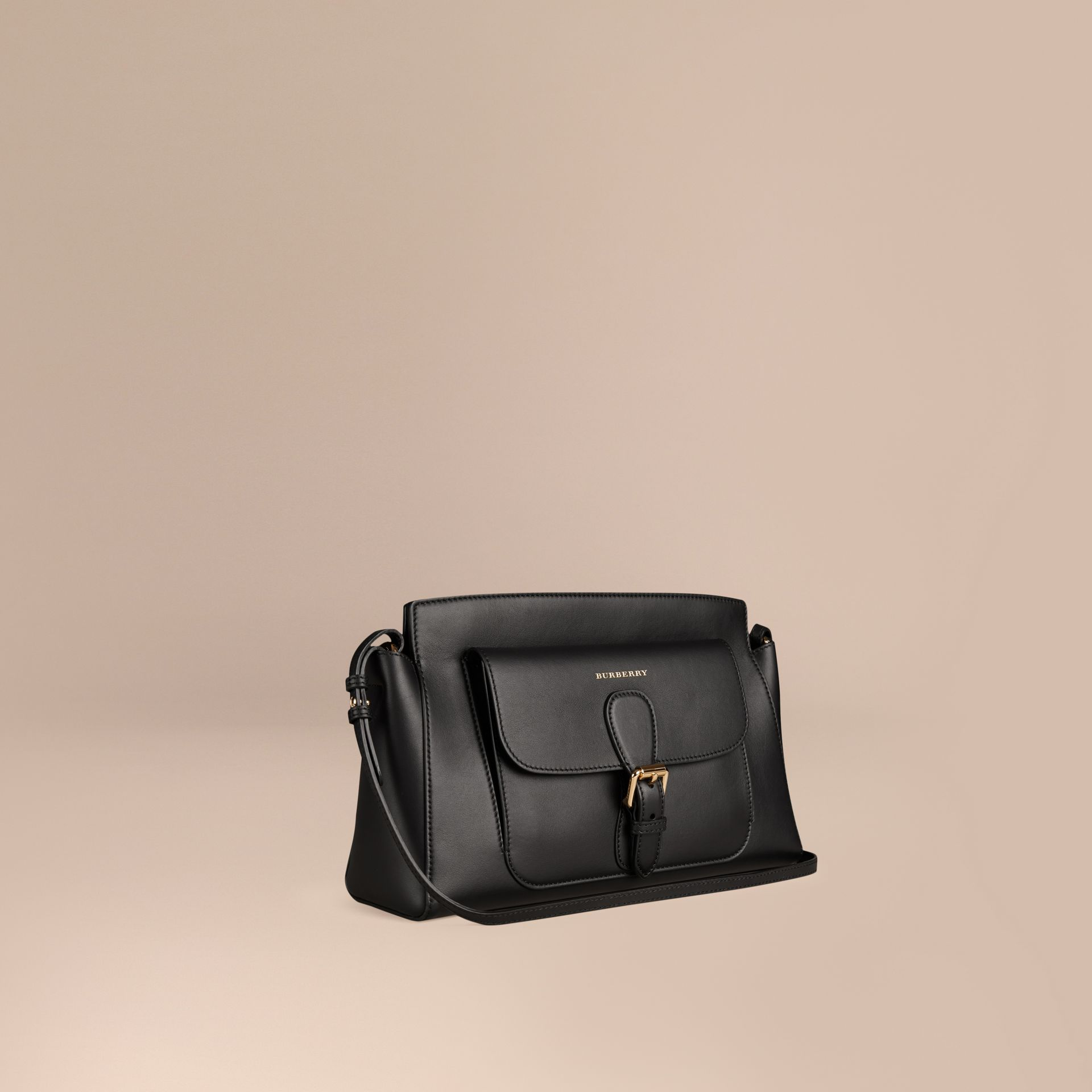 Black The Saddle Clutch in Bonded Leather - gallery image 1