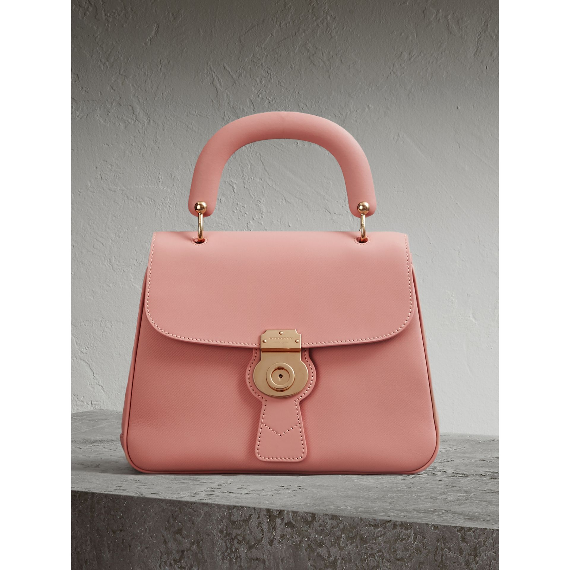 Burberry The Medium Dk88 Leather Top Handle Bag In Pink   ModeSens 11418eb2b8