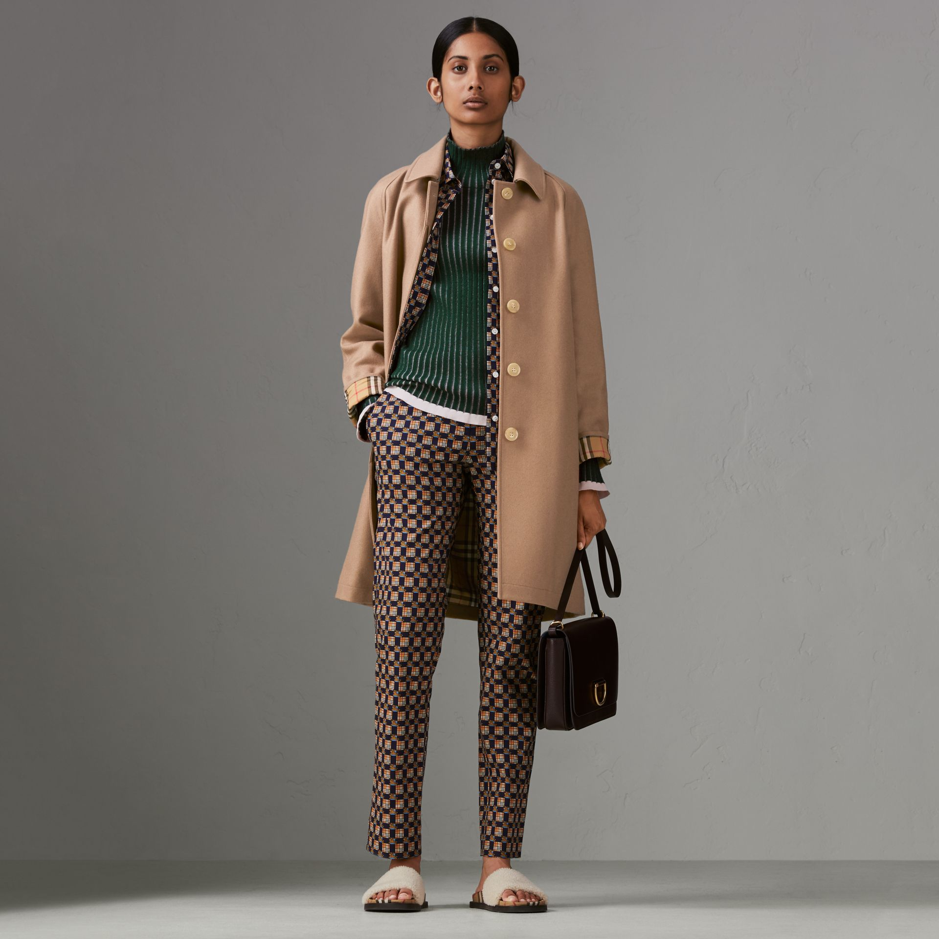 Cashmere Car Coat in Camel - Women | Burberry - gallery image 0