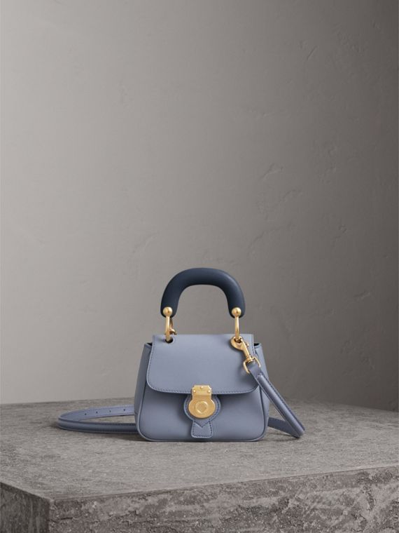 The Mini DK88 Top Handle Bag in Slate Blue - Women | Burberry