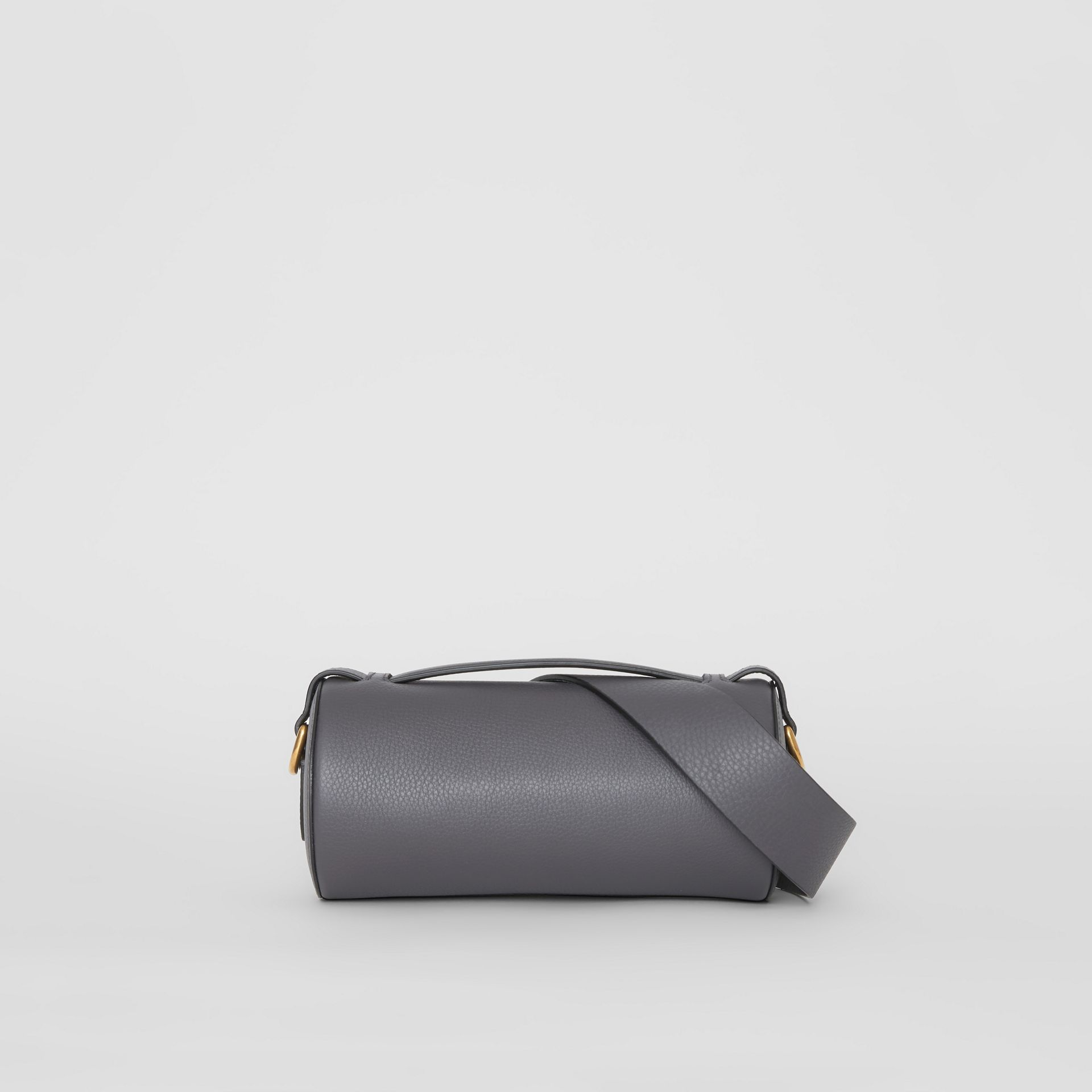The Leather Barrel Bag in Charcoal Grey - Women | Burberry - gallery image 7