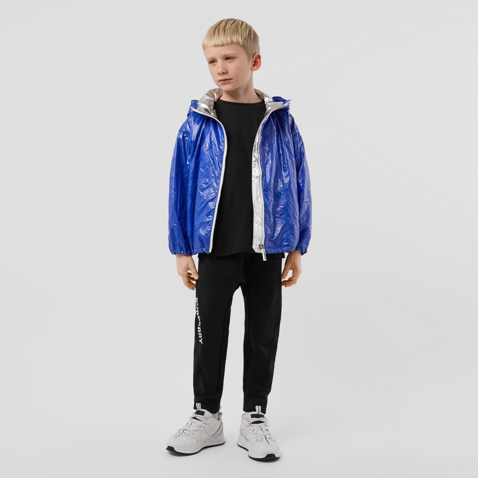 Logo Print Lightweight Hooded Jacket in Deep Cobalt | Burberry United Kingdom - gallery image 2