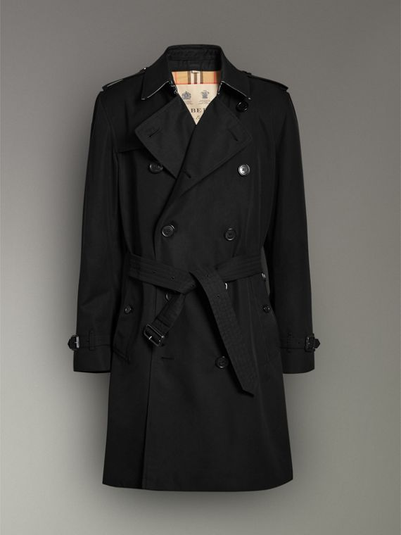 The Kensington Heritage Trench Coat in Black - Men | Burberry - cell image 3
