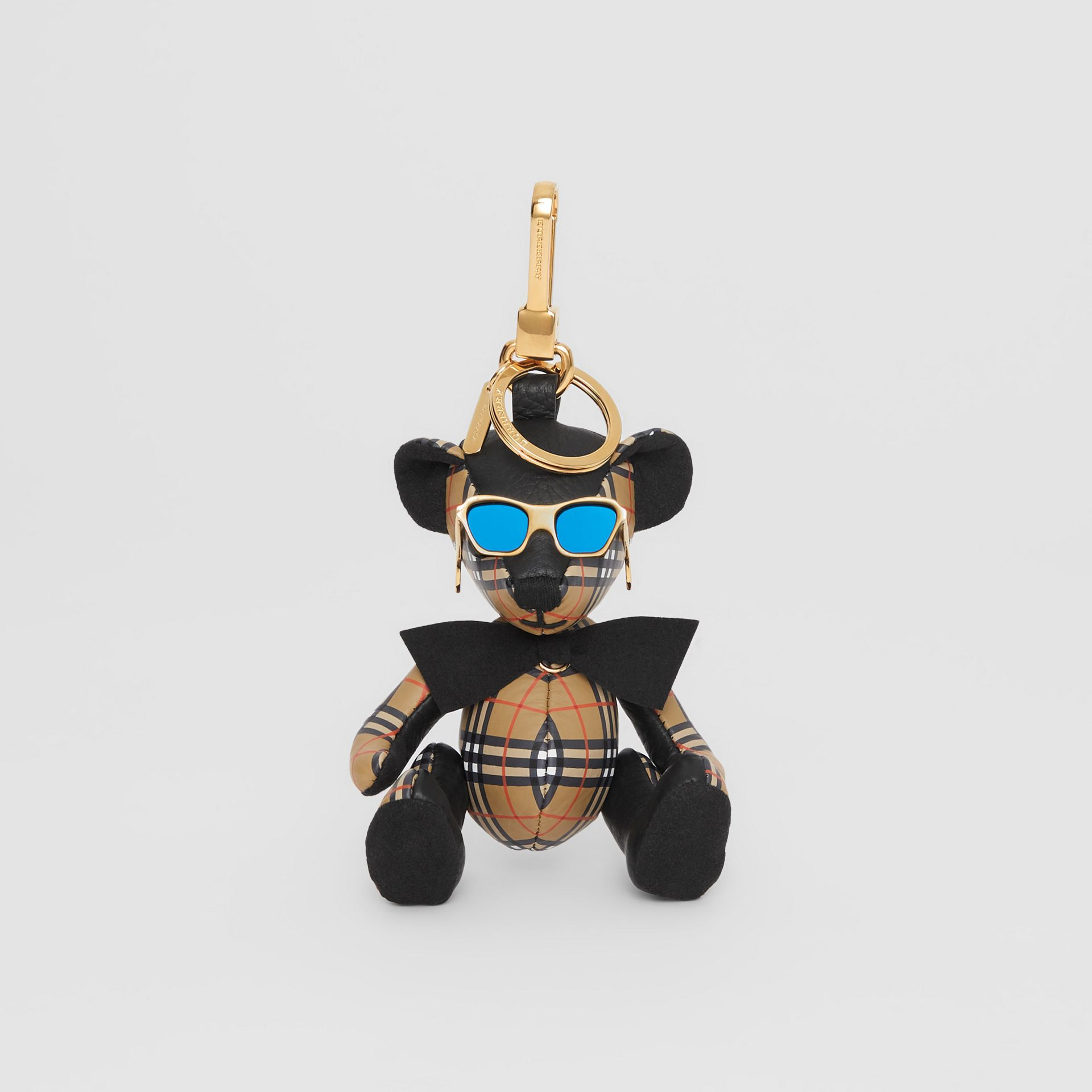 Thomas Bear Charm in Sunglasses in Black/antique Yellow | Burberry United States - gallery image 2