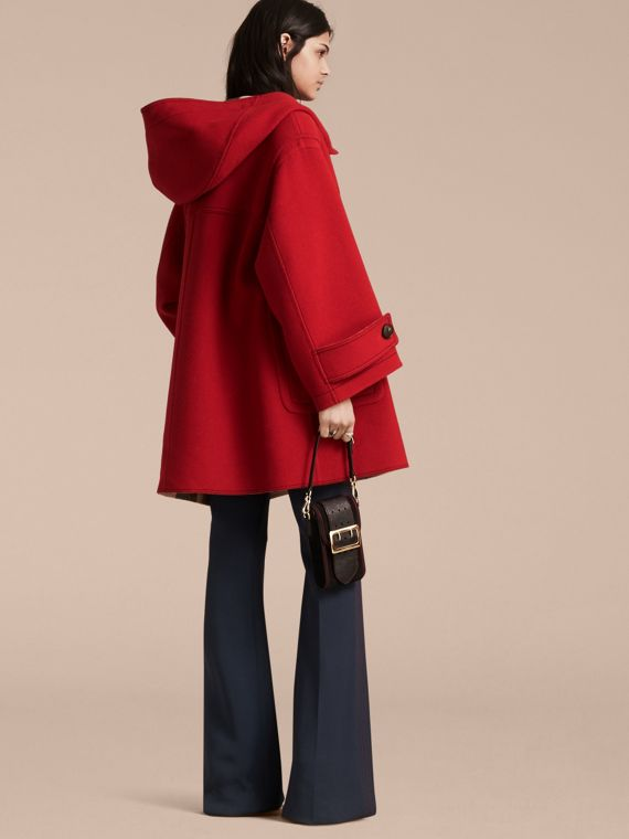 Military red Double-faced Technical Wool Duffle Coat - cell image 2