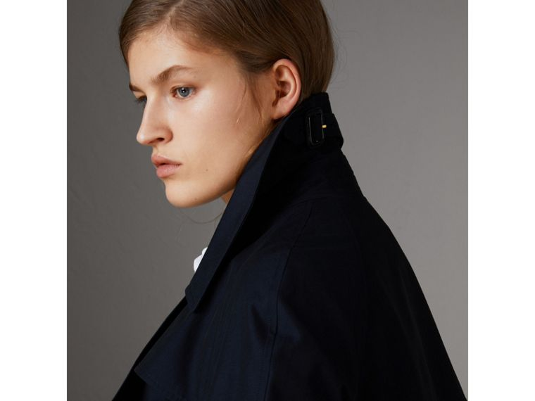 Tropical Gabardine Asymmetric Trench Coat in Blue Carbon - Women | Burberry Australia - cell image 4