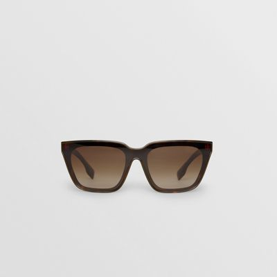 Square Frame Shield Sunglasses by Burberry