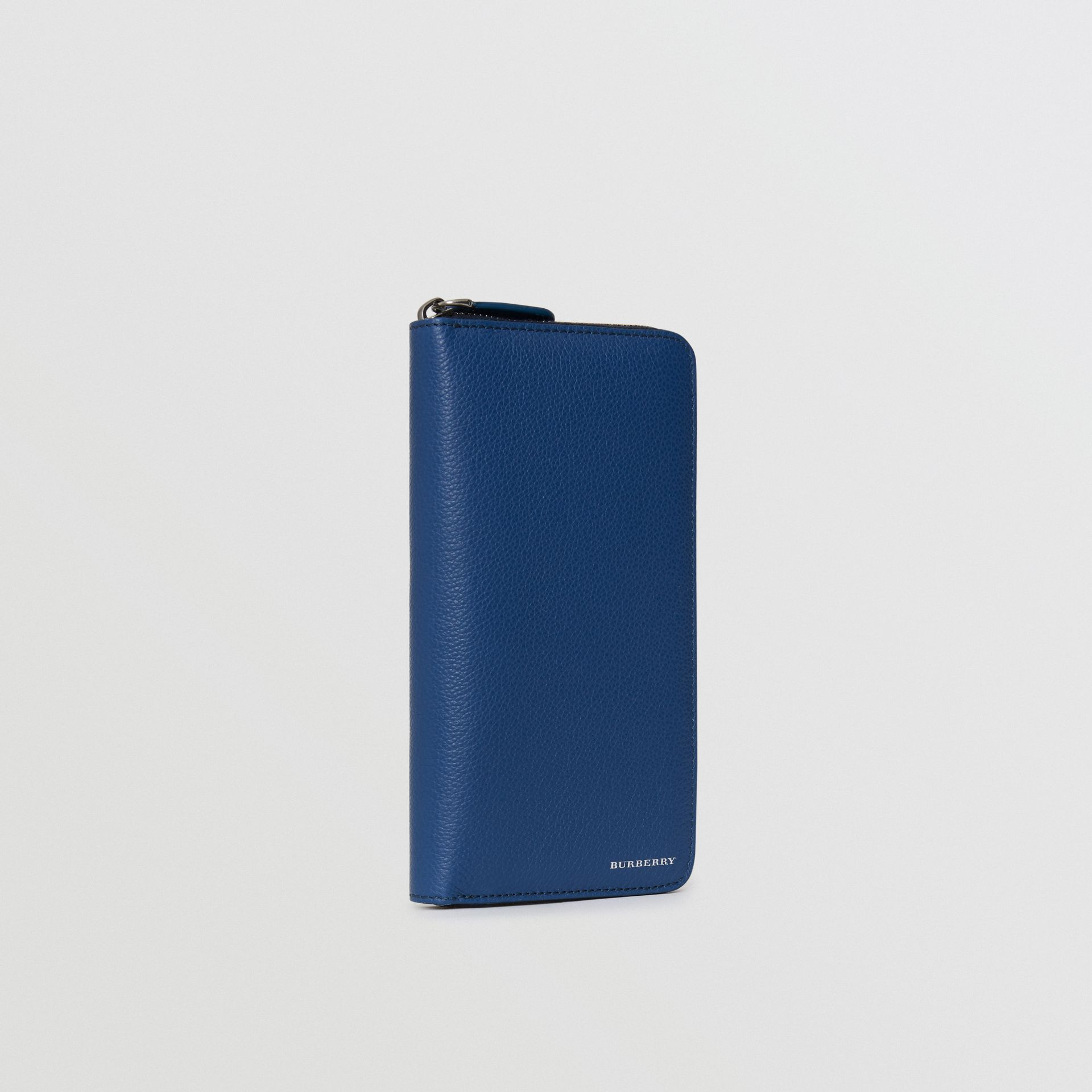 Grainy Leather Ziparound Wallet in Bright Ultramarine - Men | Burberry - gallery image 4