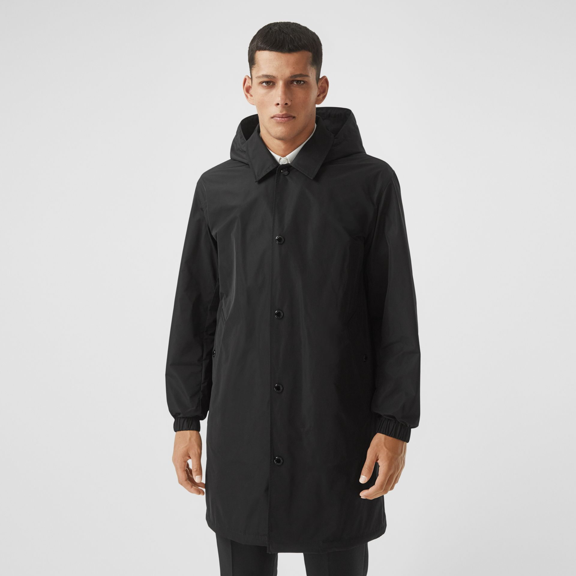 Detachable Hood Shape-memory Taffeta Car Coat in Black - Men | Burberry - gallery image 5
