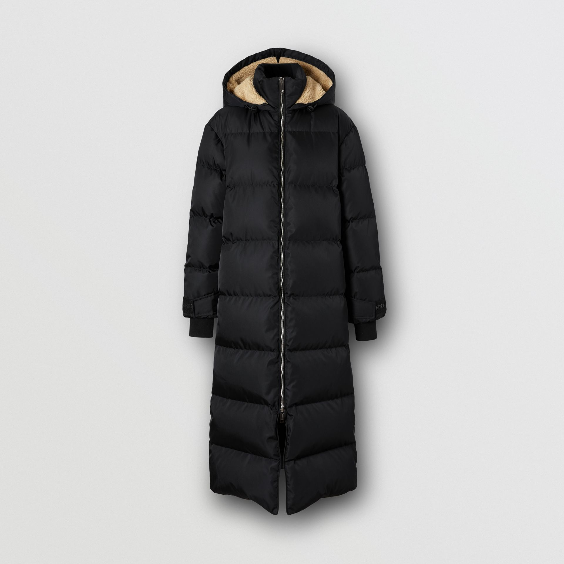 Logo Detail Puffer Coat in Black - Women | Burberry - gallery image 3