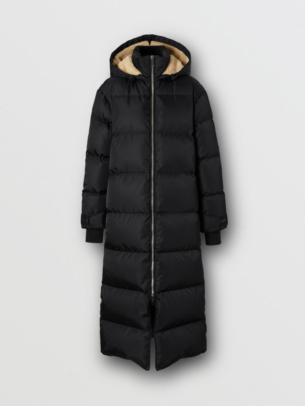 Logo Detail Puffer Coat in Black - Women | Burberry - cell image 3