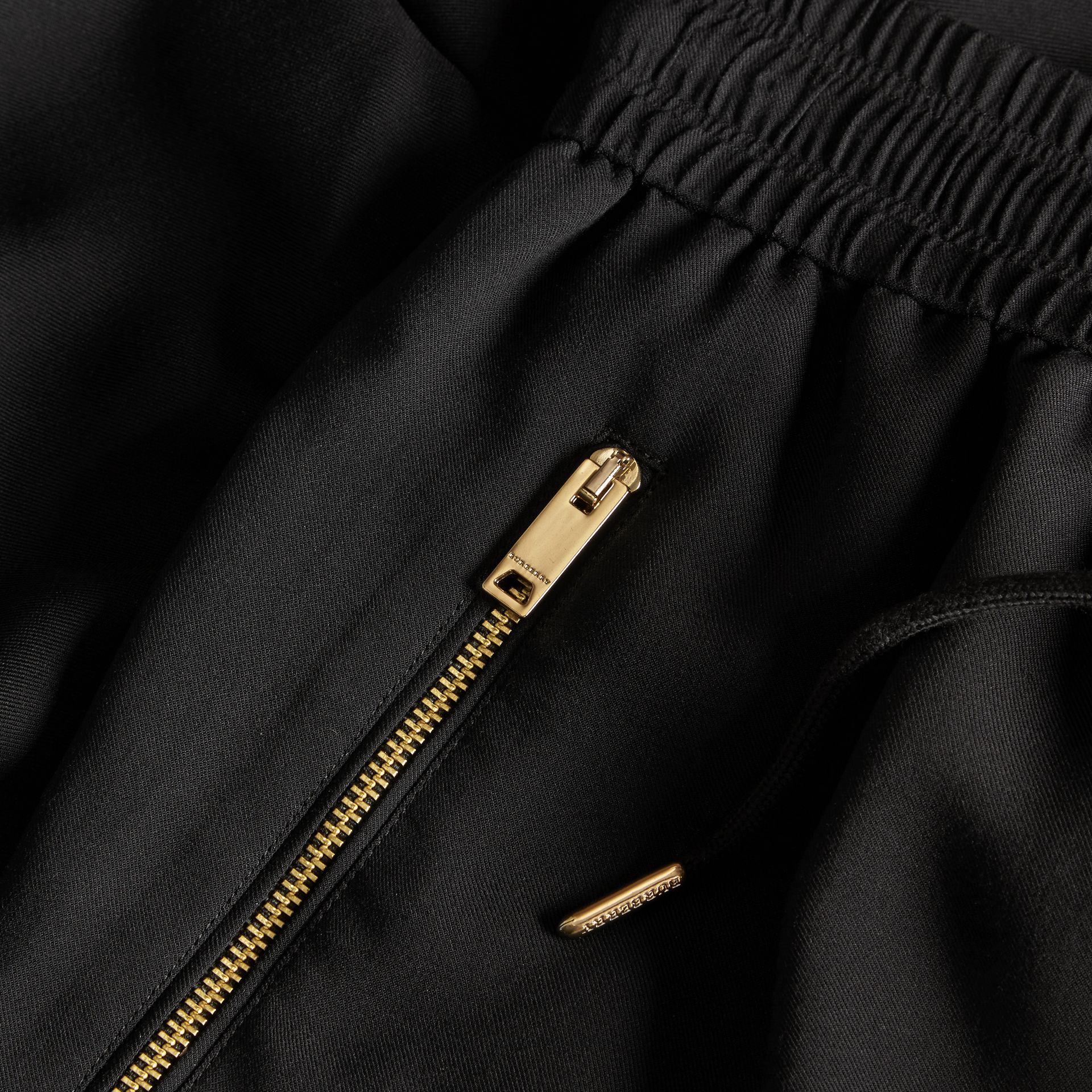 Zip Detail Jersey Sweat Pants Black - gallery image 2