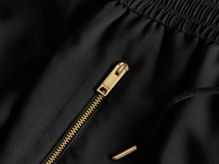 Black Zip Detail Jersey Sweat Pants Black - cell image 1