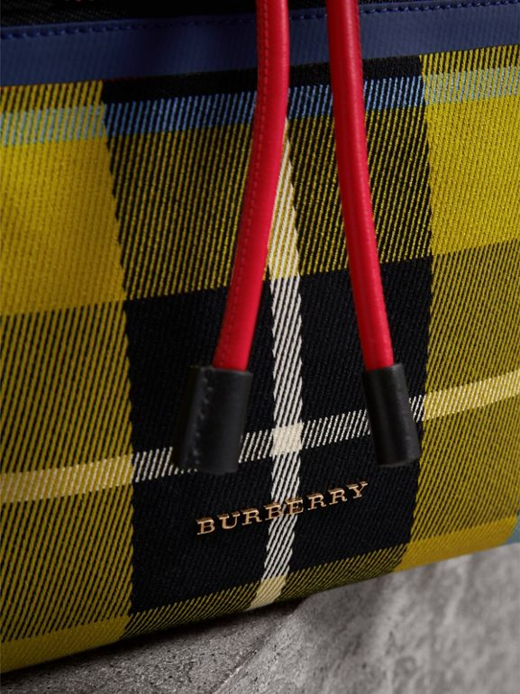 The Medium Rucksack in Tartan and Vintage Check in Flax Yellow - Women | Burberry - cell image 1