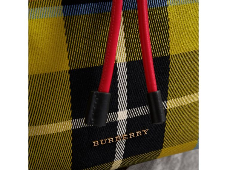 The Medium Rucksack in Tartan and Vintage Check in Flax Yellow - Women | Burberry Australia - cell image 1