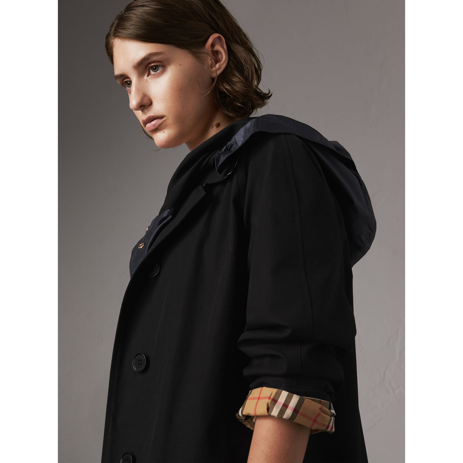 The Camden – Mid-length Car Coat in Black - Women | Burberry Australia - gallery image 7