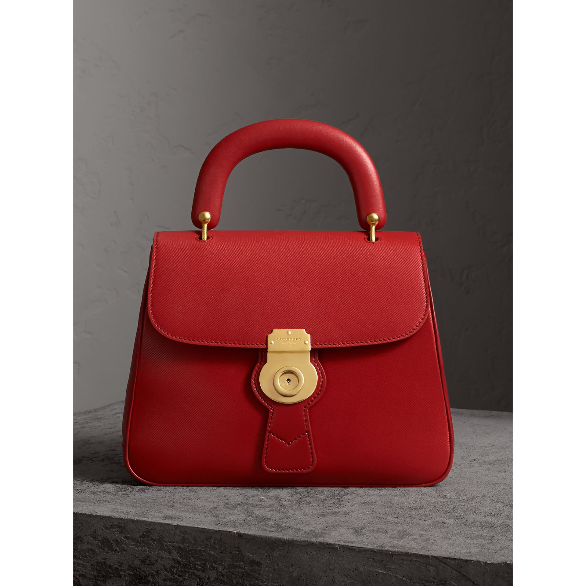 Burberry Dk88 Top Handle Medium Leather Satchel In Coral Red   ModeSens 8943649dd5