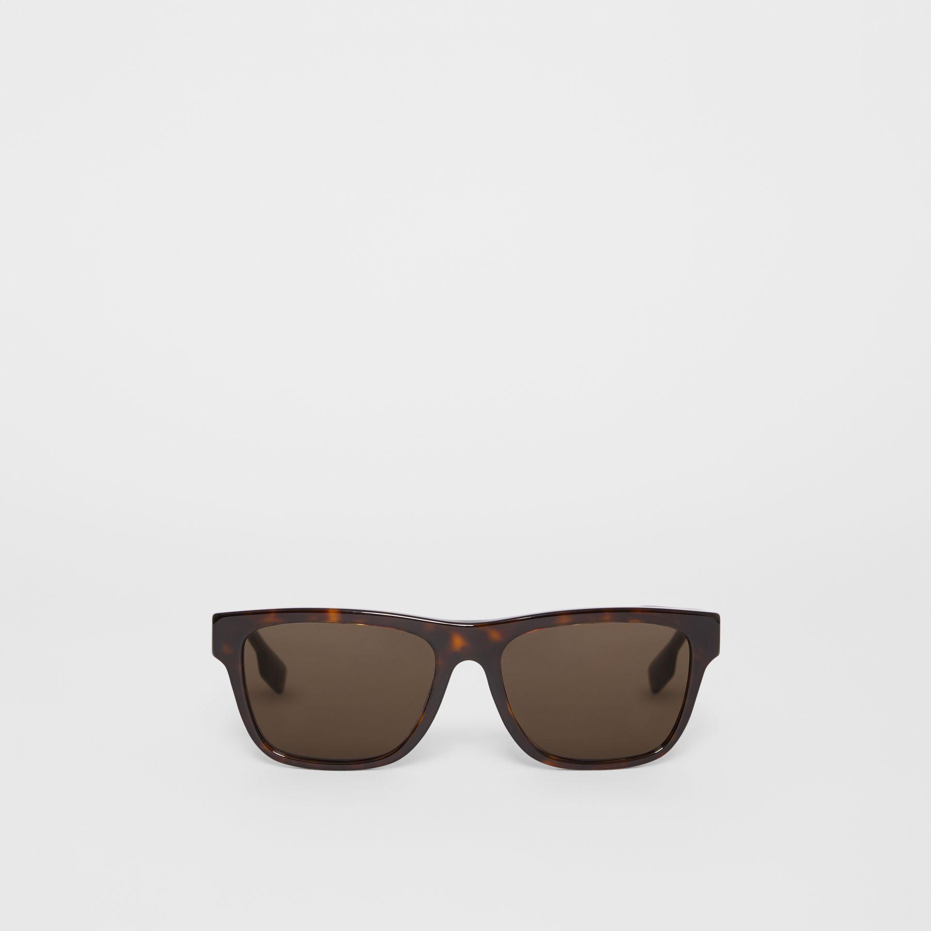 Square Frame Sunglasses in Tortoiseshell - Men | Burberry Hong Kong S.A.R - gallery image 0