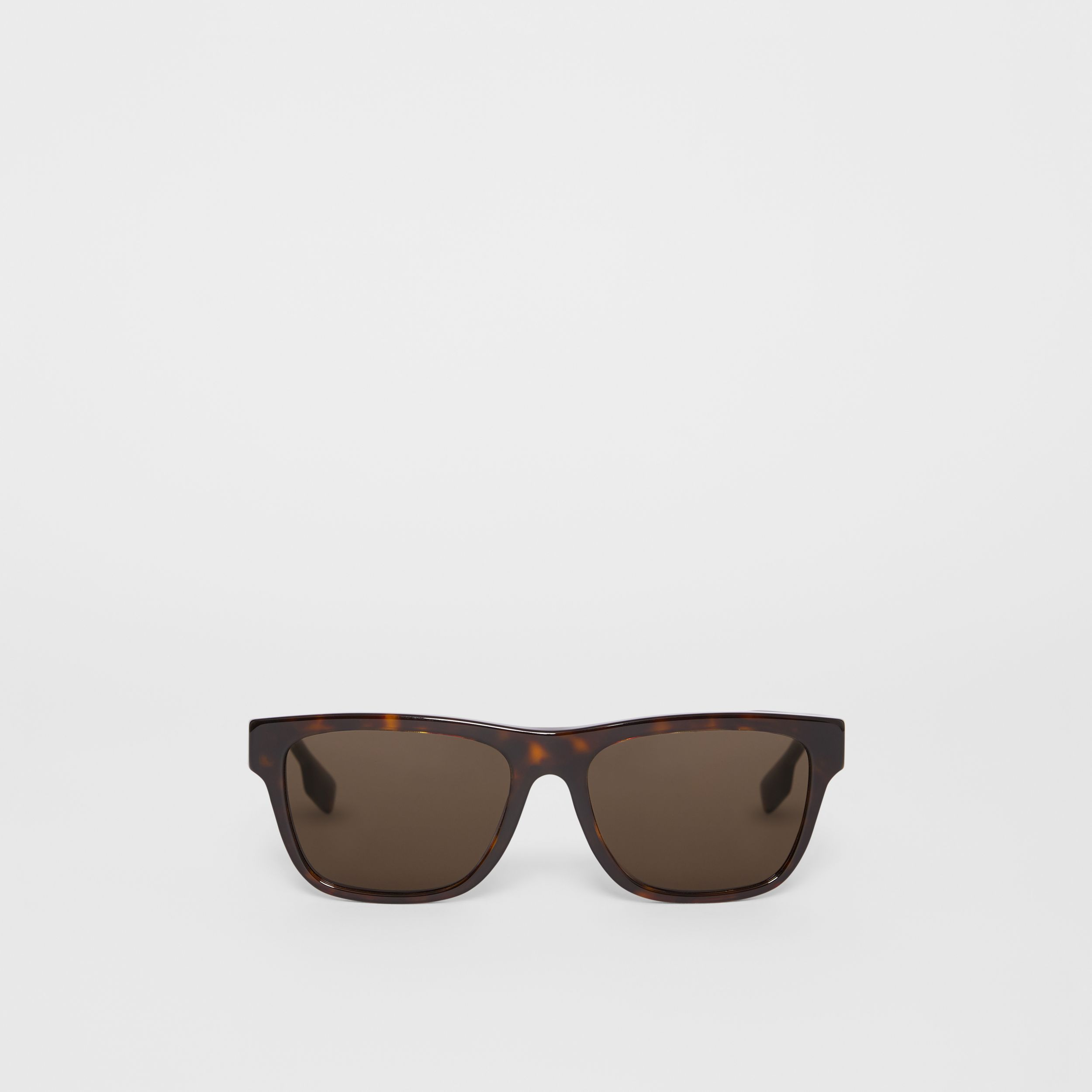 Square Frame Sunglasses in Tortoiseshell - Men | Burberry - 1