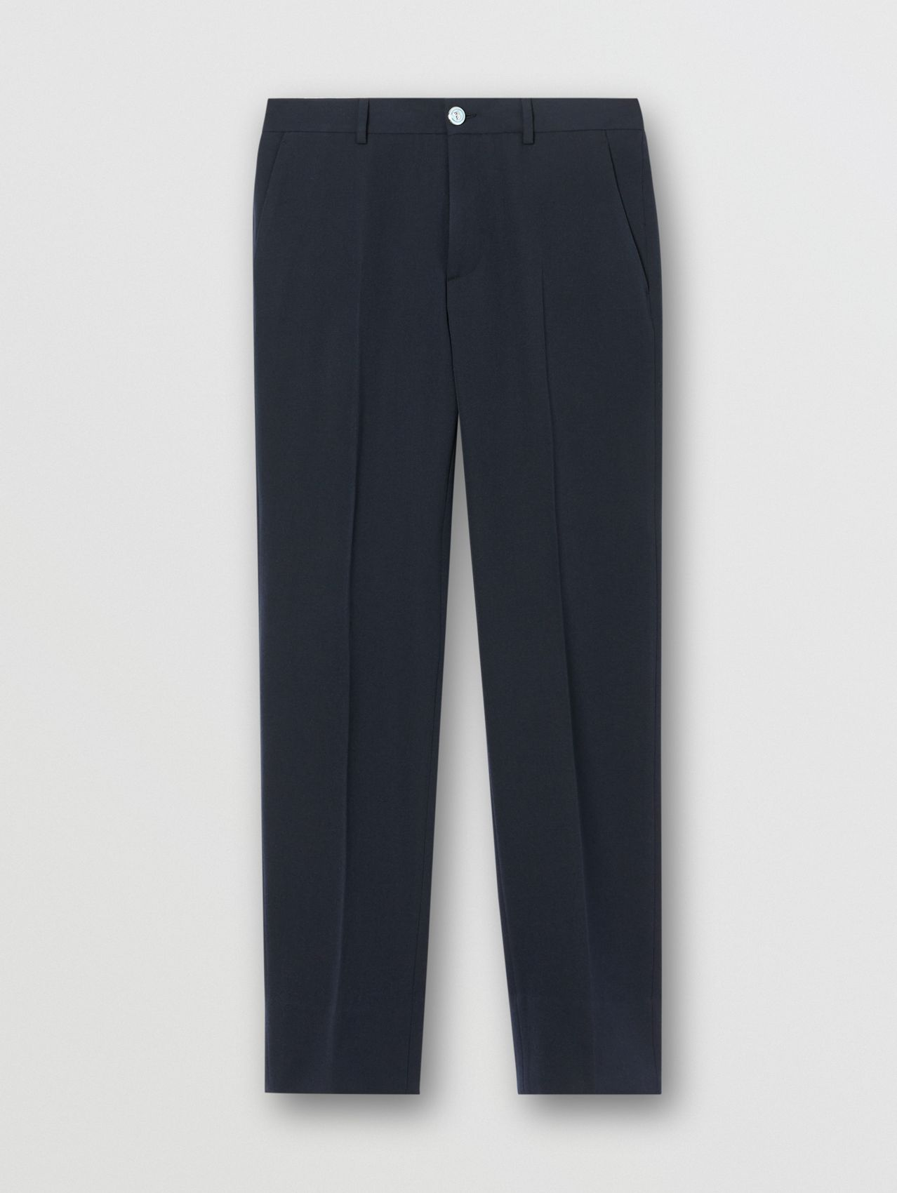 Classic Fit Grain De Poudre Wool Tailored Trousers
