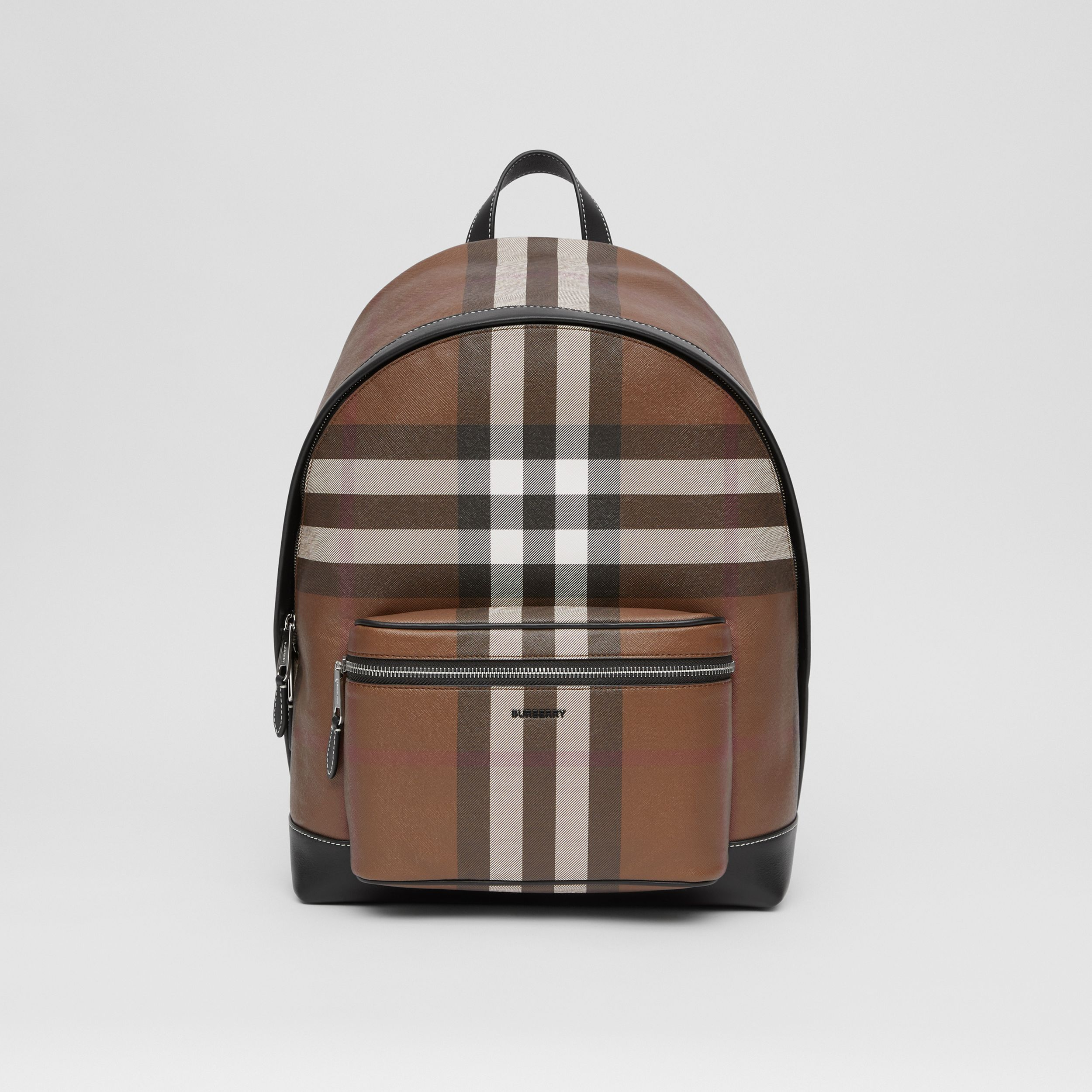 Check E-canvas Backpack in Dark Birch Brown - Men | Burberry - 1