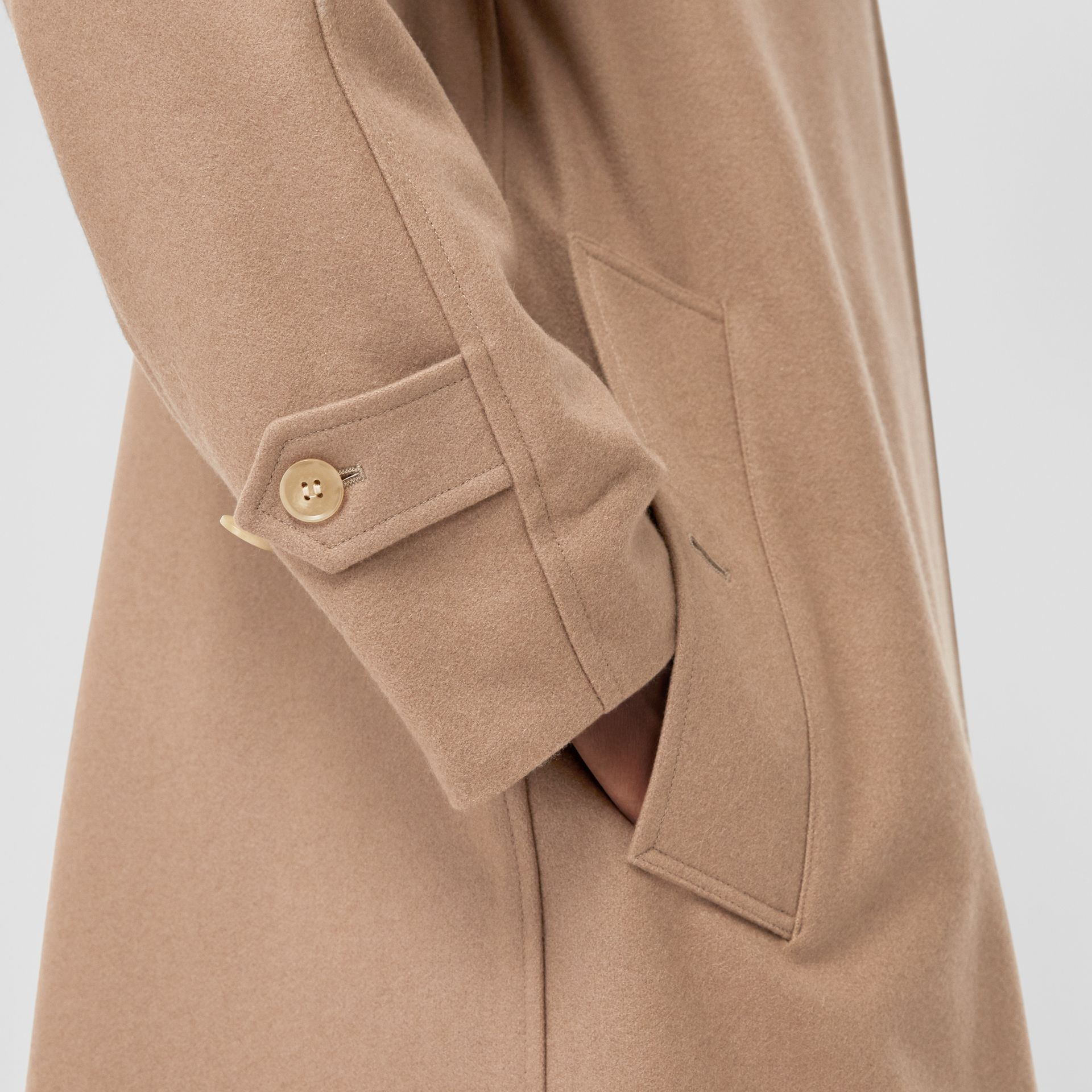 Cashmere Car Coat in Camel - Women | Burberry Australia - gallery image 4