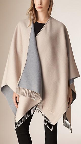 Fringed Merino Wool Poncho