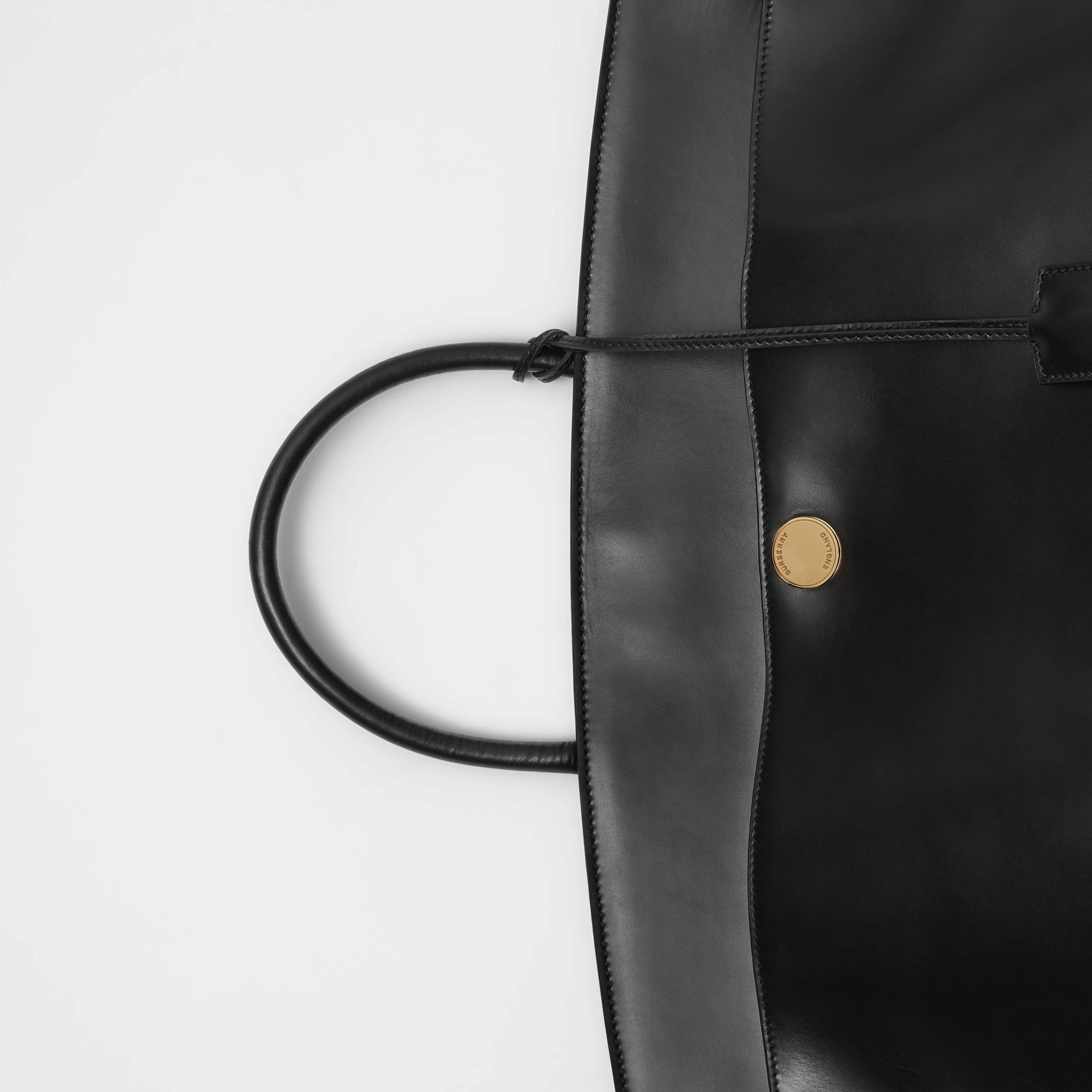 Leather Society Top Handle Bag in Black - Women | Burberry United States - gallery image 1