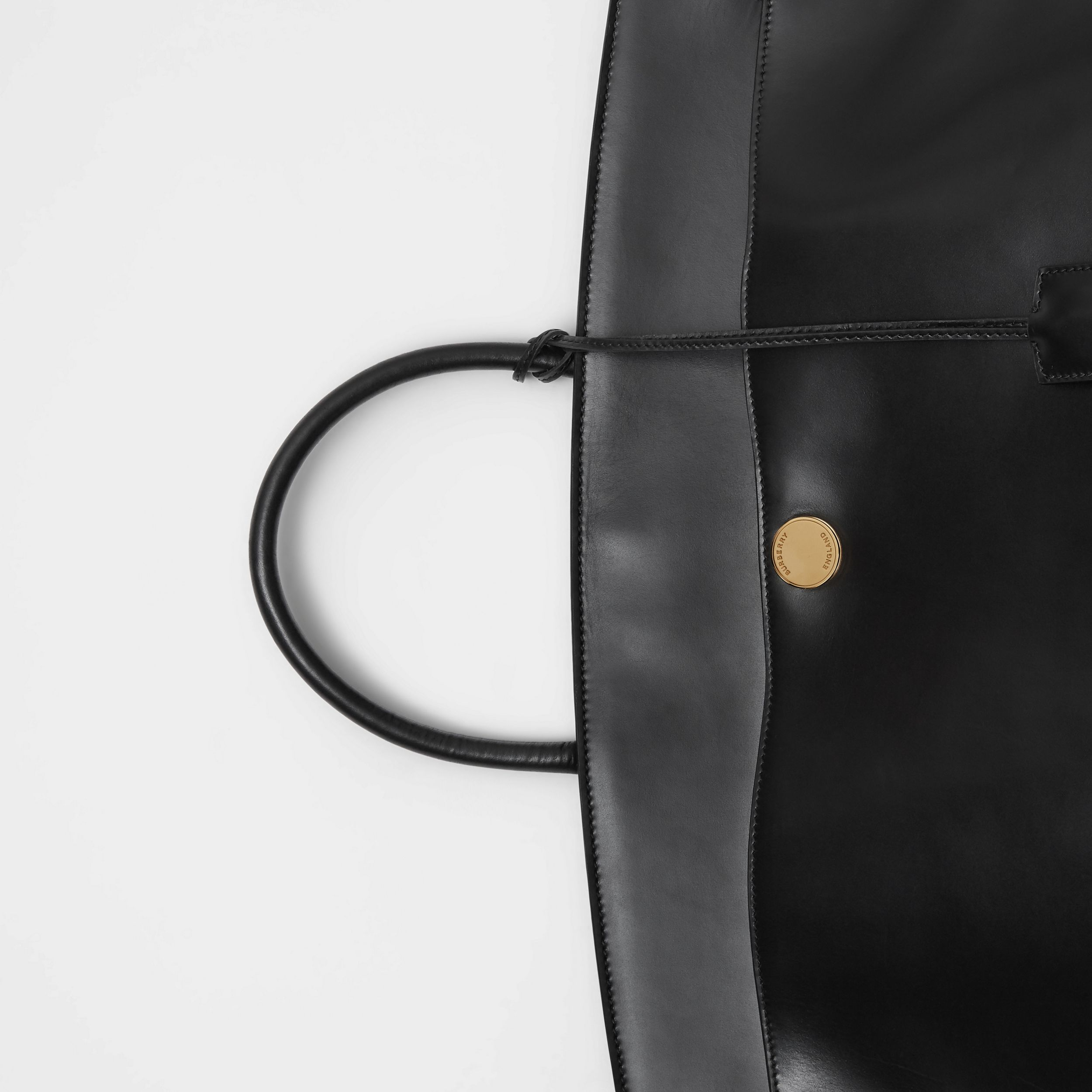 Leather Society Top Handle Bag in Black - Women | Burberry - 2