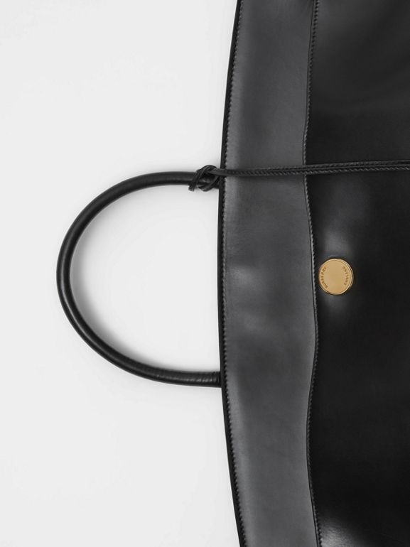 Leather Society Top Handle Bag in Black - Women | Burberry United States - cell image 1