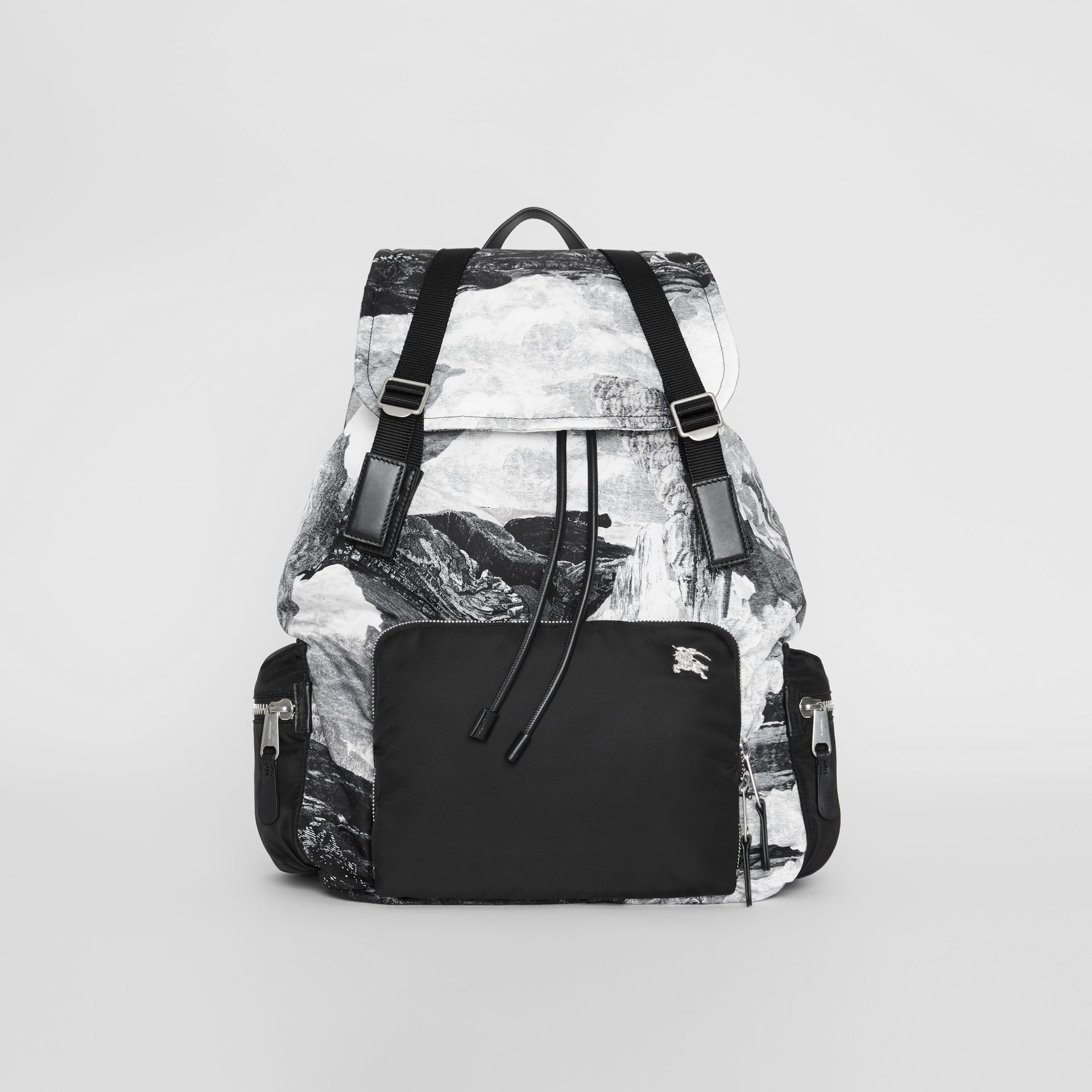 The Extra Large Rucksack in Dreamscape Print in Black/white - Men | Burberry - gallery image 0