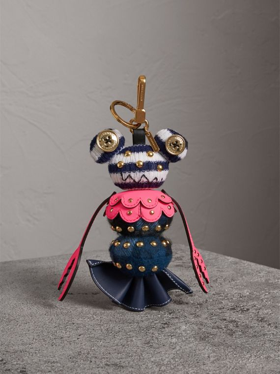 Hugo The Lobster Cashmere Charm in Navy Multicolour