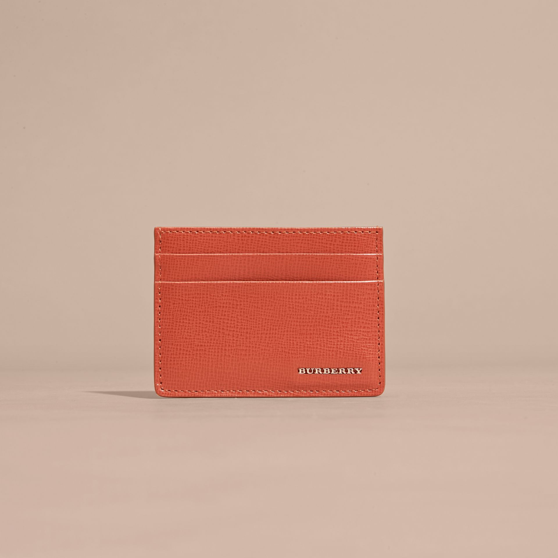 London Leather Card Case Burnt Sienna - gallery image 2