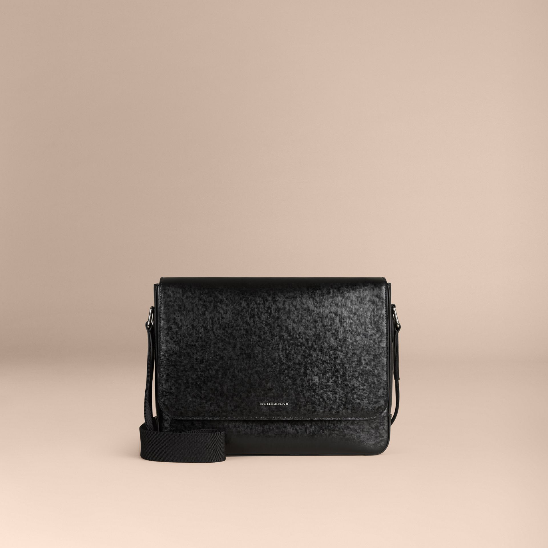 Black London Leather Briefcase Black - gallery image 6