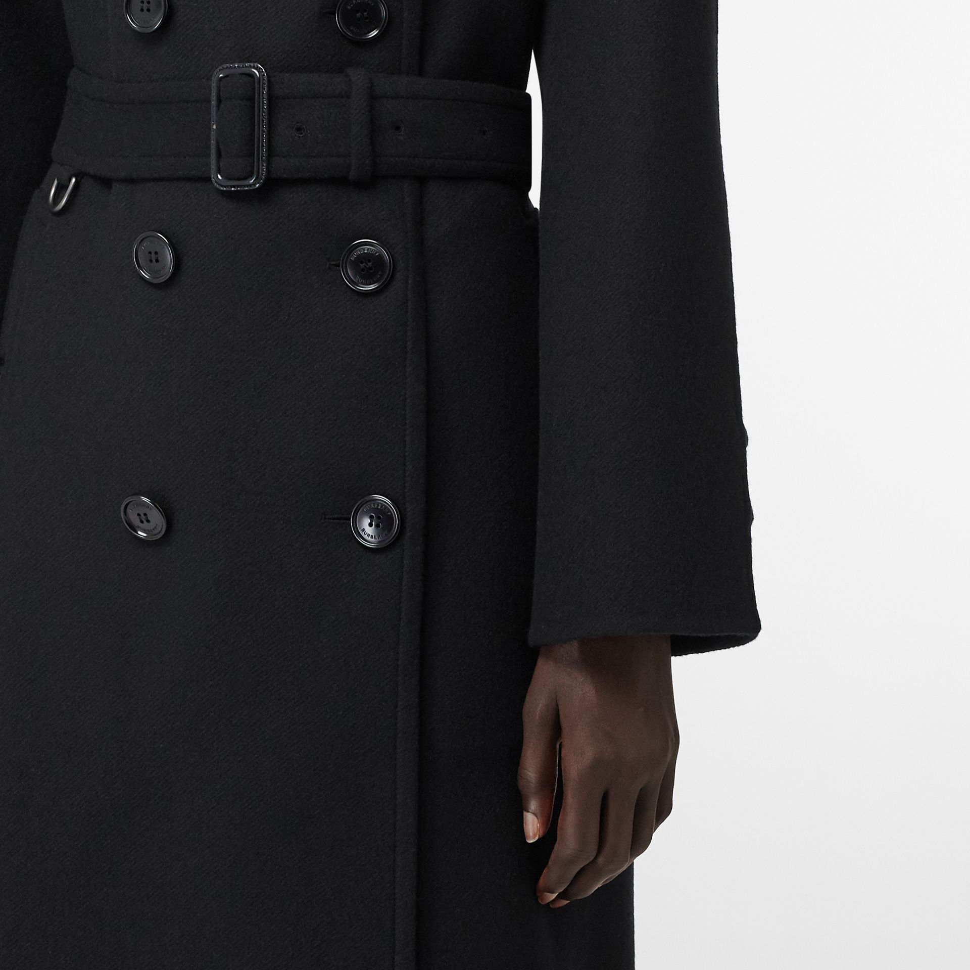 Double-faced Cashmere Trench Coat in Black - Women | Burberry United States - gallery image 4