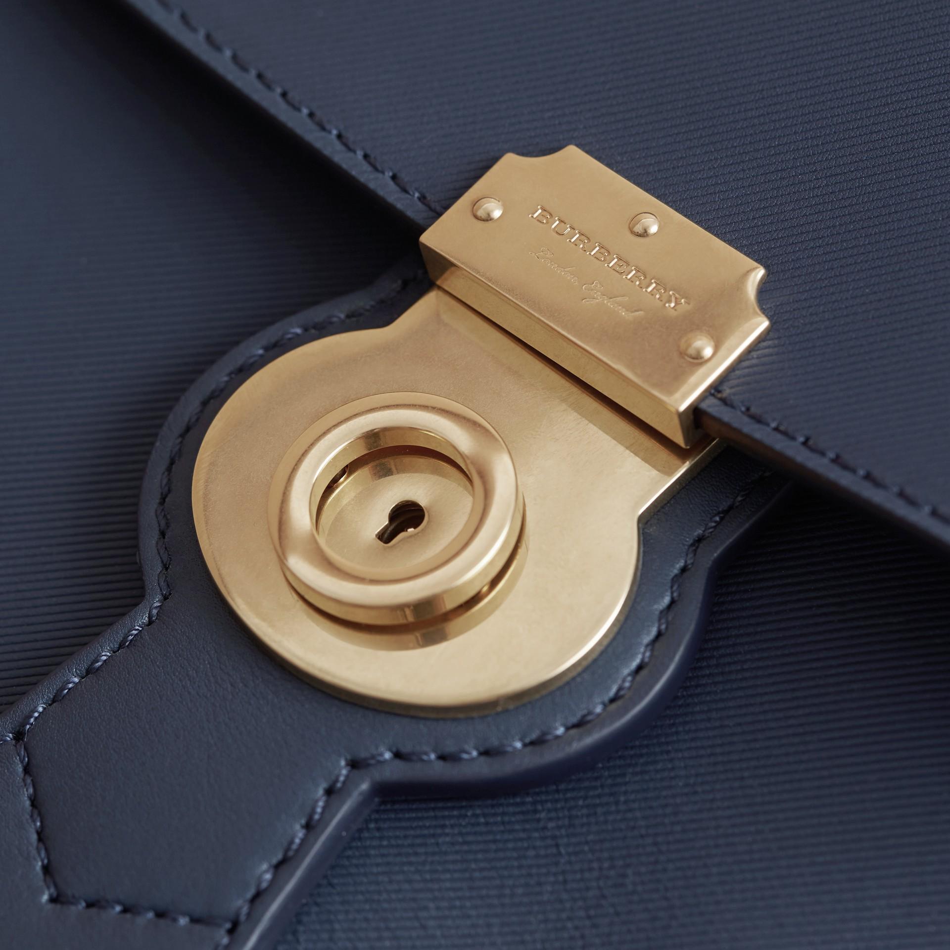 The Medium DK88 Top Handle Bag Ink Blue - gallery image 7